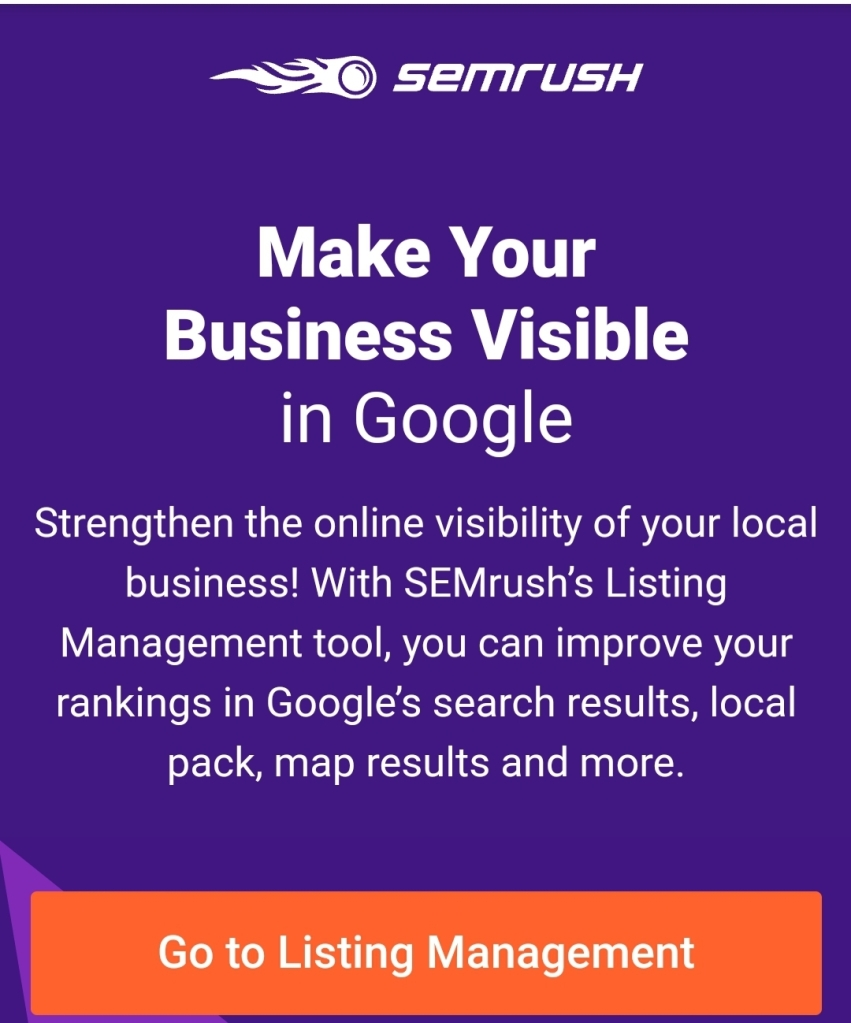 Make your business visible in Google with semrush